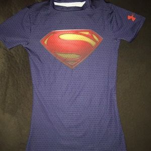 Boys Under Armour Superman fitted shirt